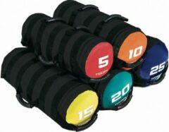 Toorx Fitness Toorx Powerbag Met 6 Hendels - Groen/zwart 20 Kg - Zwart, Rood, Blauw, Geel, Oranje