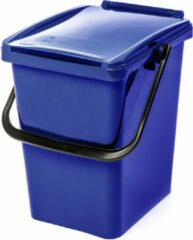 Kliko afvalbak 10 liter - blauw - met deksel - papier - restafval - 30 cm hoog - PMD- afval scheiden - 10 l