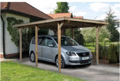 Bruine Weka Carport Primus Curitiba B 300 x D 500 x H 223 cm