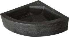 Ben Saniselect Hoekfontein 1 kraangat 30x30x10 cm Hardstenen Zwart