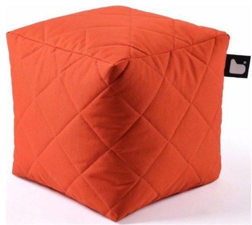 Afbeelding van B-bag extreme lounging Extreme lounging B-Box Quilted Poef - Oranje