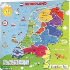 Playwood / Roel Puzzel Nederland met plaatsnamen en rivieren