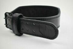 Zwarte Suppro Performance FOAM PADDED BELT , MAAT S   Gewichtshefgordel   Gewichtshefriem   Powerliftbelt   Powerliftriem   Lifting belt