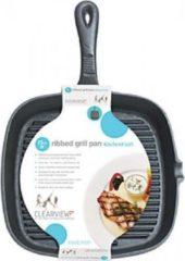 Zwarte KitchenCraft Gietijzeren grillpan - 23cm - Kitchen Craft
