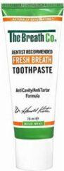 The Breath Co. tandpasta tegen slechte adem, caries en droge mond. Met actieve zuurstof en zonder SLS.