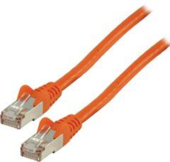 Valueline FTP CAT 6 netwerk kabel 1,00 m oranje