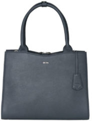 "Grijze Socha Diamond Leather Businessbag 10-14"" Grey"