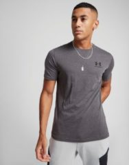 Under Armour Sportstyle Left Chest Logo SS T-shirt Heren Sportshirt - Maat S - Mannen - grijs