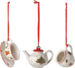 Ornamente-Set Kaffee, 3-tlg. Nostalgic Ornaments Villeroy & Boch Weiß