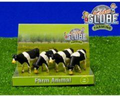 Kids Globe Farming Koe Kids Globe 1:50 Zwart Wit Staand 4 stuks