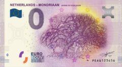 Paarse 0 Euro Biljet 2020 - Mondriaan 2