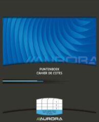 Zwarte AURORA Puntenboek formaat 165 x 21 cm (schriftformaat)