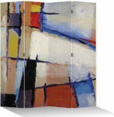 Rode Fine Asianliving Kamerscherm Scheidingswand 4 Panelen Moderne Kunst L160xH180cm