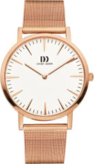 Roze Danish Design watches unisexhorloge London White Rosegold Large Mesh IQ67Q1235