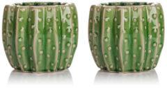 HSE24 Keramik Topf im Kaktusdesign, 2tlg.