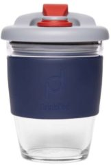 Grijze Set van 2 - Herbruikbare Koffiebeker - 340ml - Storm Grey - Glas - Pioneer