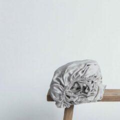 Coco & Cici zacht, luxe en duurzaam beddengoed - topper hoeslaken - lits-jumeaux - 180 x 200 x 10 - greige