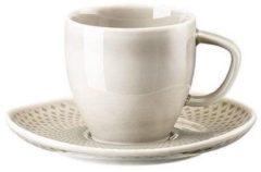 Grijze ROSENTHAL - Junto Pearl Grey - Espressoschotel 11cm