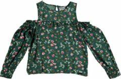 Retour groene blouse open schouder- meisje - Maat 104