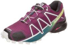 Speedcross 4 Trail Laufschuh Damen Salomon dark purple / white / deep lake