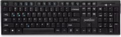 Zwarte Perixx Periboard 810 draadloos Bluetooth multimedia toetsenbord QWERTY/US