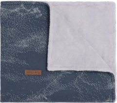 Grijze Baby's Only Ledikantdeken Marble Teddy - Granit Grey