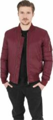 Oranje Urban Classics Basic Bomber Jacket Burgundy Red