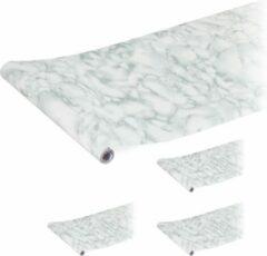 Grijze Relaxdays 5x plakfolie - decoratiefolie zelfklevend - kleeffolie - meubelsticker - sticker