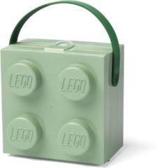 Groene Lego Lunchtrommel - Incl. Handvat - Brick 4 - Mintgroen