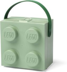 LEGO Broodtrommel Brick 4 Met Handvat - Polypropyleen - 2 Liter