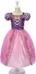 Paarse WiseGoods Rapunzel Jurk - Jurk voor Meisjes - Prinsessen - Verkleedkleding - Kinderkostuum - 6-7 jaar - 116-122 - Dress Up - Verkleden