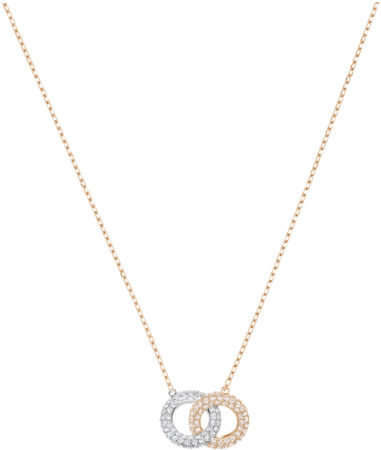 Afbeelding van Swarovski Stone Necklace, Multi-colored, Rose gold plating Pink Rose gold-plated
