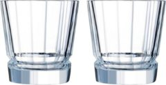 Transparante Cristal d'Arques - Macassar - Waterglazen - 32 cl - set van 2