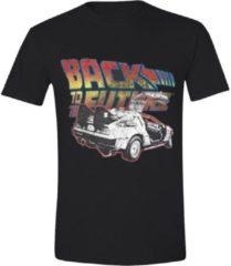 Zwarte Back To The Future Shirt – Logo maat S