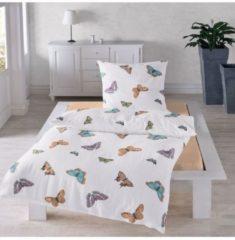 Seersucker Bettwäsche Schmetterlinge Traumschlaf bunt