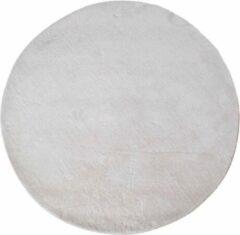 Hioshop Flagstaf vloerkleed rond Ø120 cm wit.