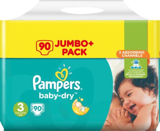 Afbeelding van Pampers Baby Dry Luiers Maat 3 - 90 Stuks GIGA PACK