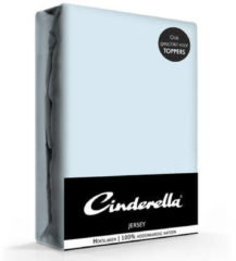 Blauwe Cinderella - Hoeslaken (tot 25 cm) - Jersey - 160 x 210/220 cm - Sky blue