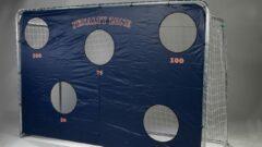 Zilveren 2 stuks - Avyna voetbalgoal staal 3,00 x 2,00 incl. net + Trainingswand
