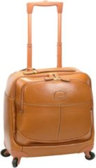 Life Pelle 4-Rollen Businesstrolley Leder 43 cm Laptopfach Bric's cognac