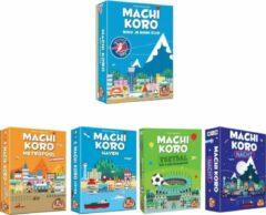 Merkloos / Sans marque Spellenset - 5 stuks - Machi Koro - Basisspel & Uitbreidingen Metropool en Haven & Nacht editie & Voetbal editie