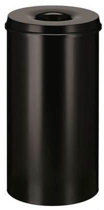 Afbeelding van Vepa Bins Papierbak met vlamdover Vepabins 50liter 33.5cm zwart