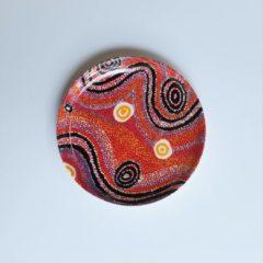 Rode Alperstein Designs Designbord rond - Otto Jungarrayi Sims - Aboriginal collectie
