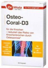 Dr. Wolz Osteo Coral D3 K2 | Ondersteuning bij Osteoporose | Verminderd risico op Breuken | 50 plus supplement