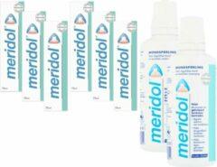 MERIDOL - Voordeelverpakking - 6 x 75 ml Meridol Tandpasta & 2 x 400 ml Meridol Mondspoeling