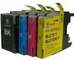 Cyane KUPRI - Set van 4 cartridges - LC 1280XL - Brother MFC-J5910 DW, Brother MFC-J6510 DW ,Brother MFC-J6710 DW ,Brother MFC-J6910 DW