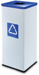 Blauwe Easybin Eco flex 50 Liter vierkante afvalemmer Blauw