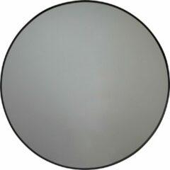 Ronde Metalen Spiegel-Zwart-60cm-Housevitamin