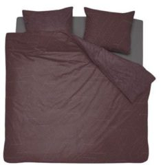 Damai Stray dekbedovertrek - 100% katoen-satijn - Lits-jumeaux (240x200/220 cm + 2 slopen) - 2 stuks (60x70 cm) - Bruin