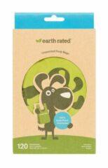 Earth Rated Poepzakjes Met Handvat - Hondenpoepzakjes - 17.7x34.2 cm Groen 120 stuks